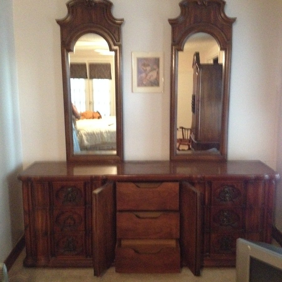 Thomasville Double Mirror Dresser My Antique Furniture