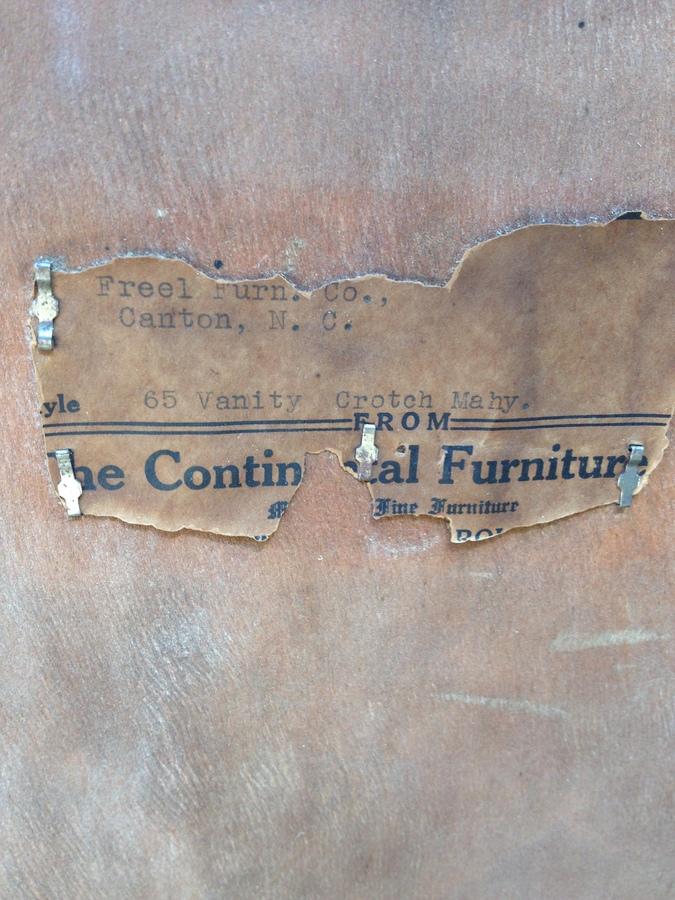 I Have A 1930 S 46 Quot Mahogany Continental Furniture Company