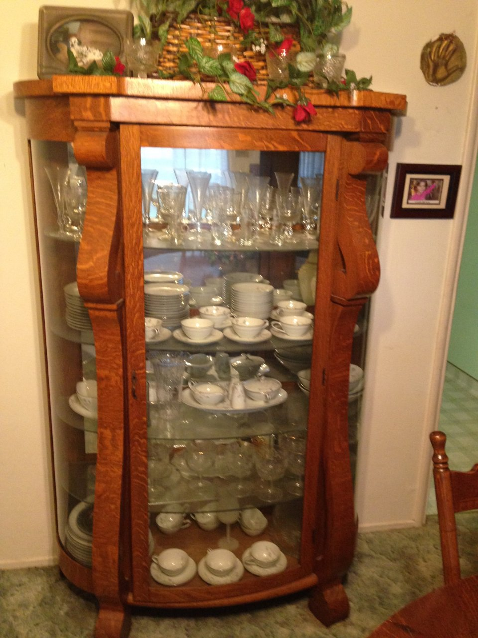 I Have A Curved Glass China Cabinet With A Matching Buffet