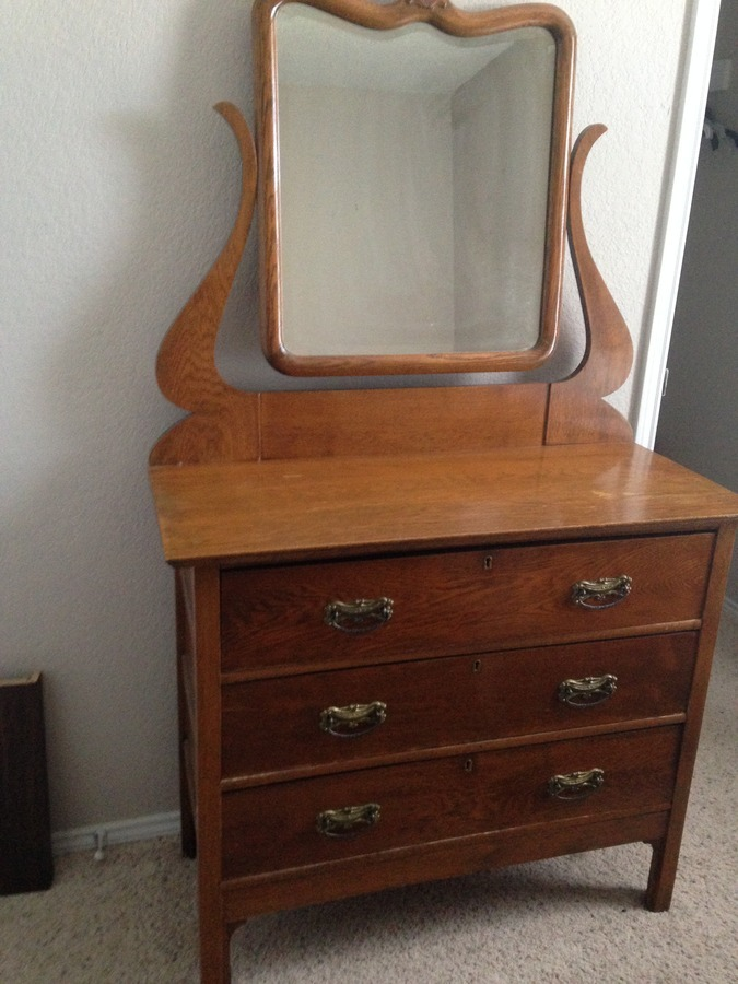 I Have A March 1911 Solid Oak Dresser With Chicago Mirror
