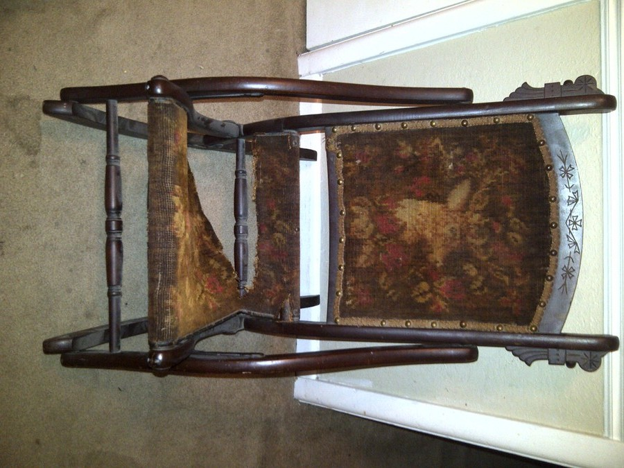 100 Year Old Folding Rocking Chair My Antique Furniture