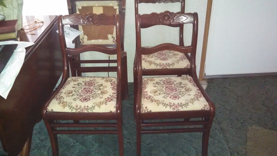 4 Tell City Rose Back Folding Chairs I Have Inherited
