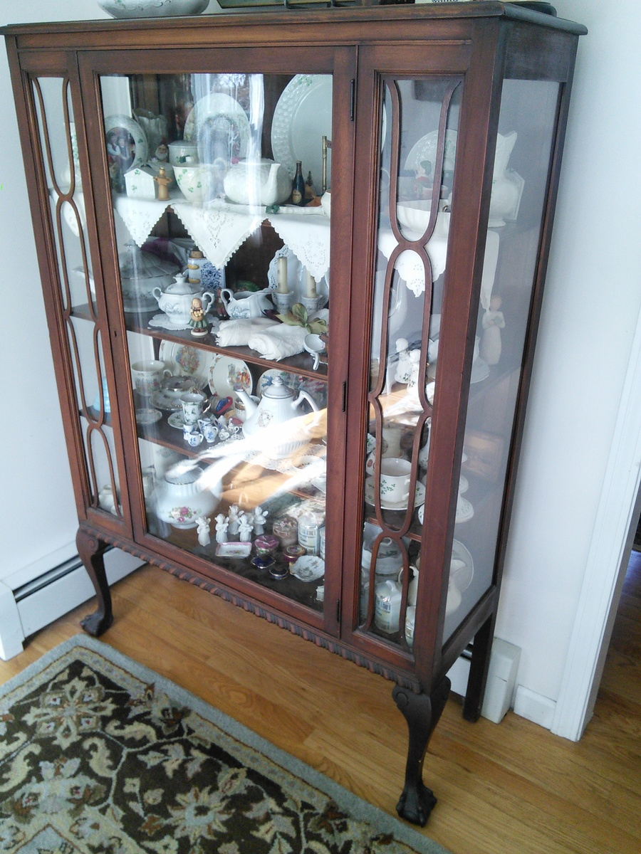 Claw Foot China Cabinet Glass On 3 Sides My Grandmother