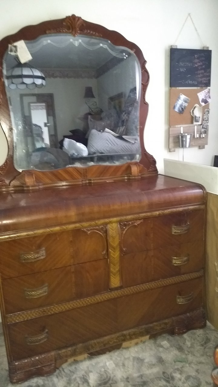 Waterfall Dresser Mirror Not Round My Antique Furniture