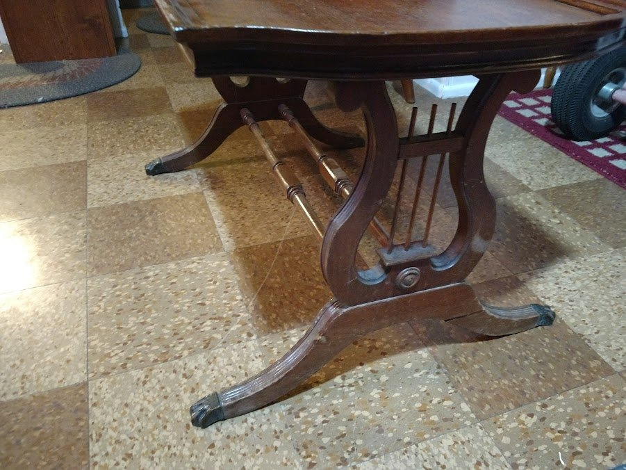 Duncan Phyfe Lyre Harp Coffee Table My Antique Furniture