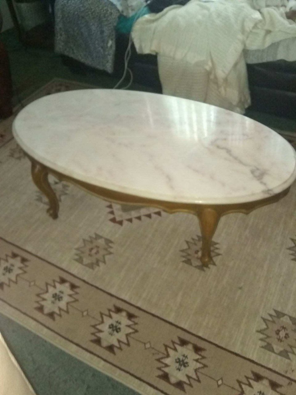 Antique Oval Marble Top Coffee Table My Antique Furniture Collection