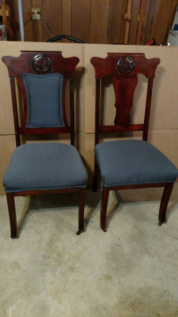 Chairs With Old Casters On The Front Legs My Antique