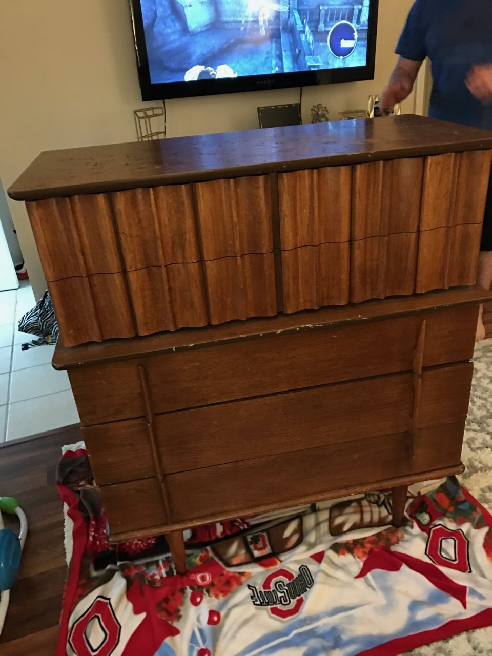 We Had Never Heard Of It So We Wanted To Know Its Value Age Etc. If Anyone  Has Any Info On It That Would Be Great. It Needs Refinished But Is Very  Sturdy.