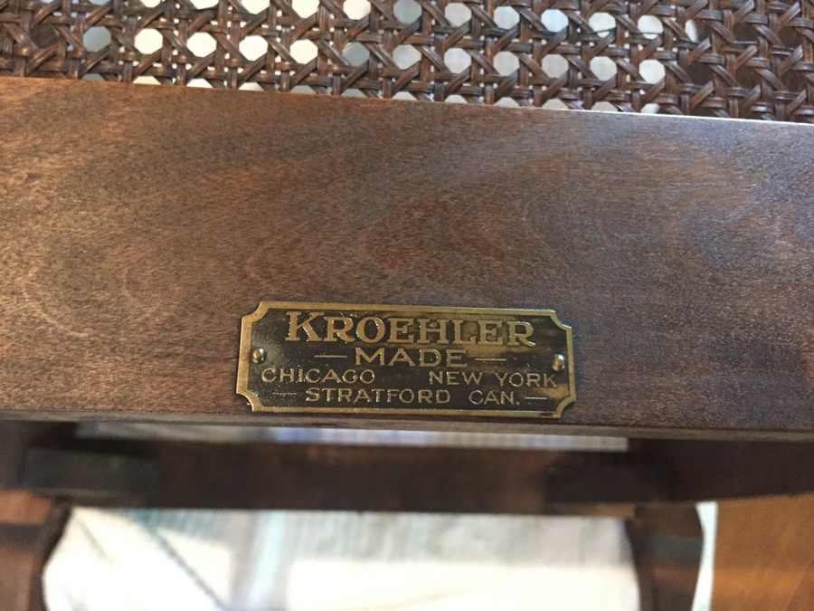 Kroehler Early 20th C Cane Chair And Rocker Set My