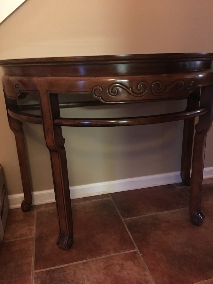 Antique China Hutch >> I Have A Wellington Hall Half Moon Table, Can You Tell Me ...