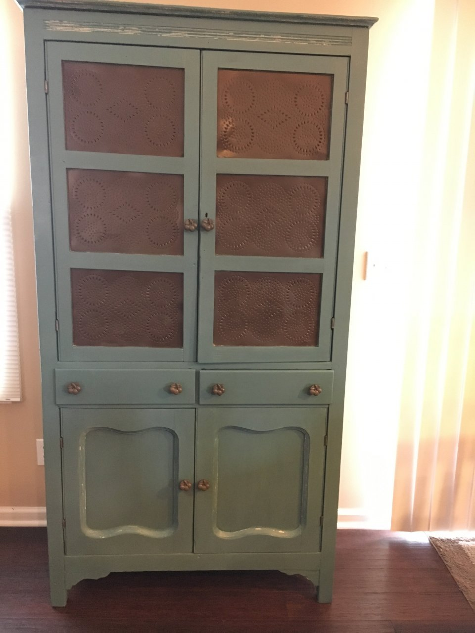 White Painted Pie Safe My Antique Furniture Collection
