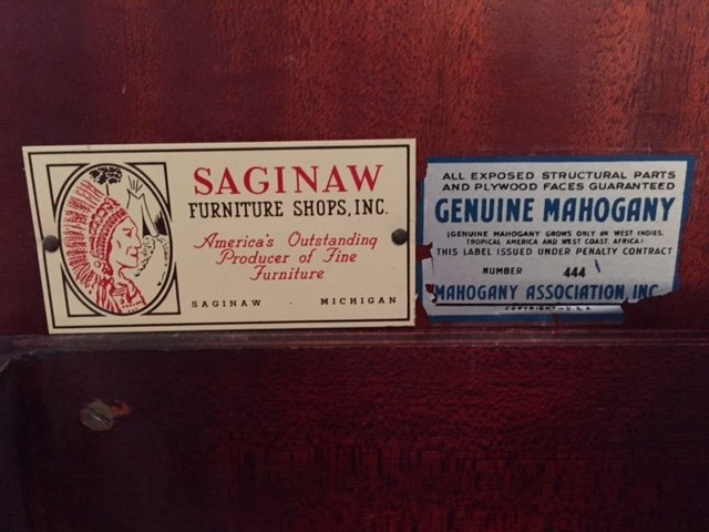 Saginaw Furniture Mahogany Expandomatic Buffet   Charlotte, NC