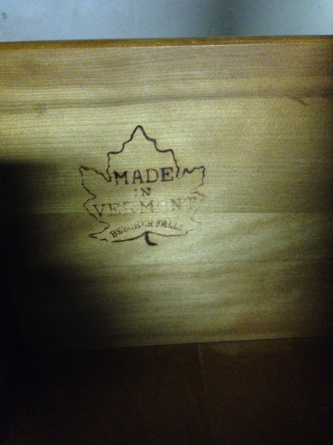 I Have Two Old Wood Dressers With A Maple Leaf Logo With
