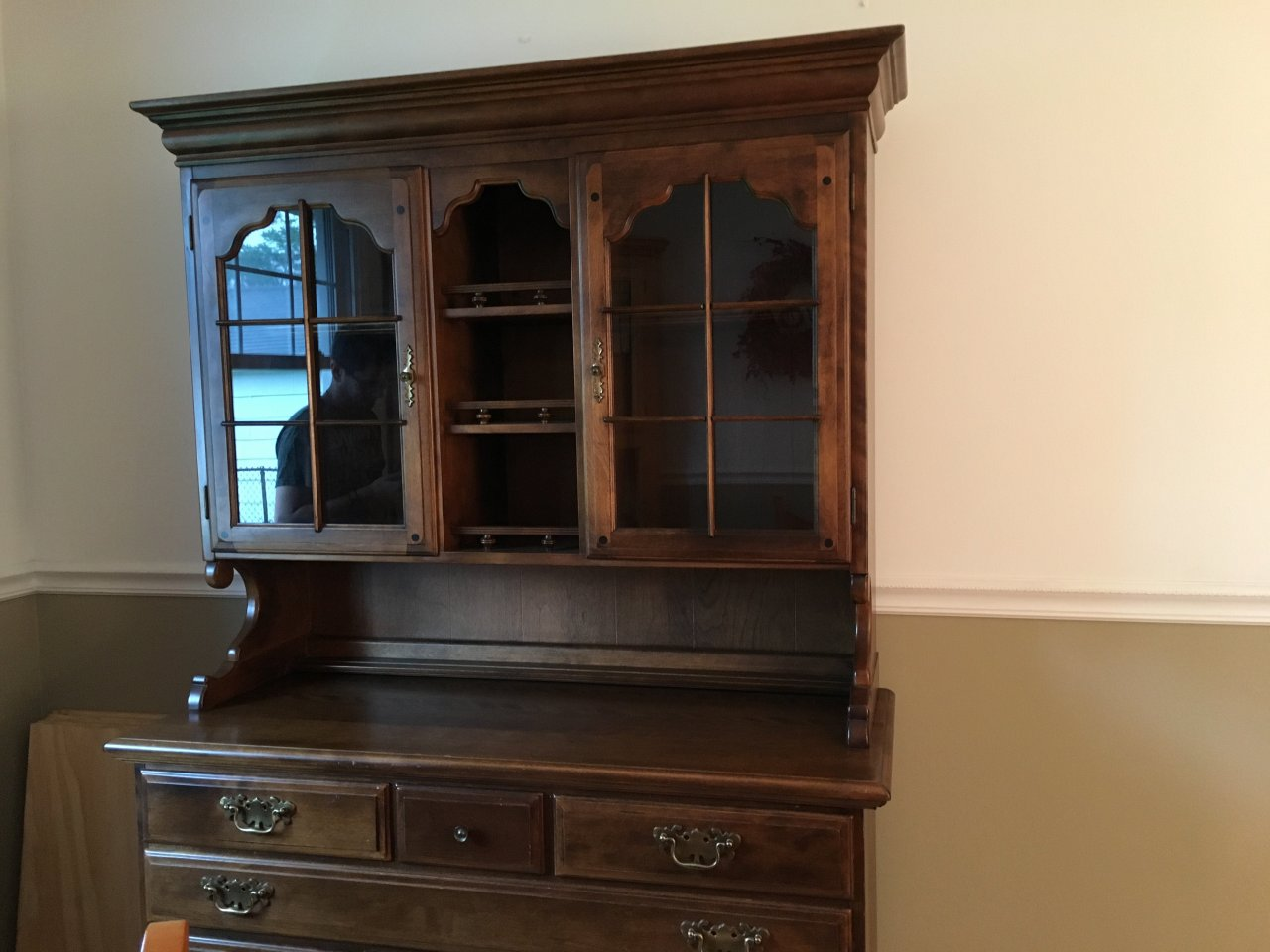Early American Temple Stuart Two Piece Hutch My Antique Furniture Collection