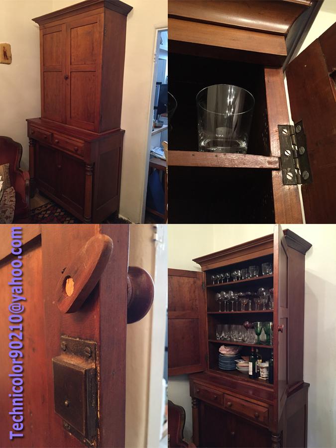 Antique Drop Front Secretary Desk >> VINTAGE Jackson Press Hutch / Circa 1840 -For Sale- | My Antique Furniture Collection
