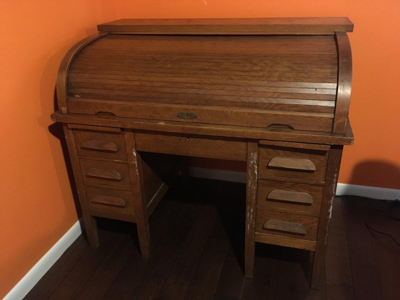 Antique Jasper Roll Top Desk Identify Age Amp Worth My