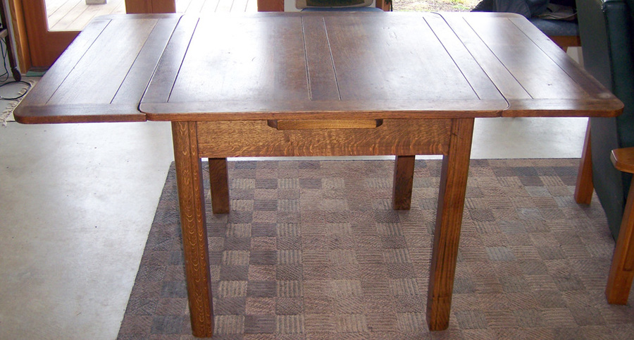 Oak Draw Leaf Pub Table My Antique Furniture Collection