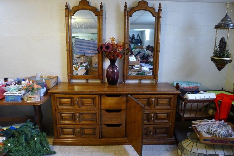 Antique Dresser In Living Room