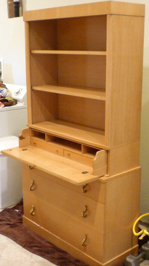 Drexel Possibly Wormley Tambour Display Case My