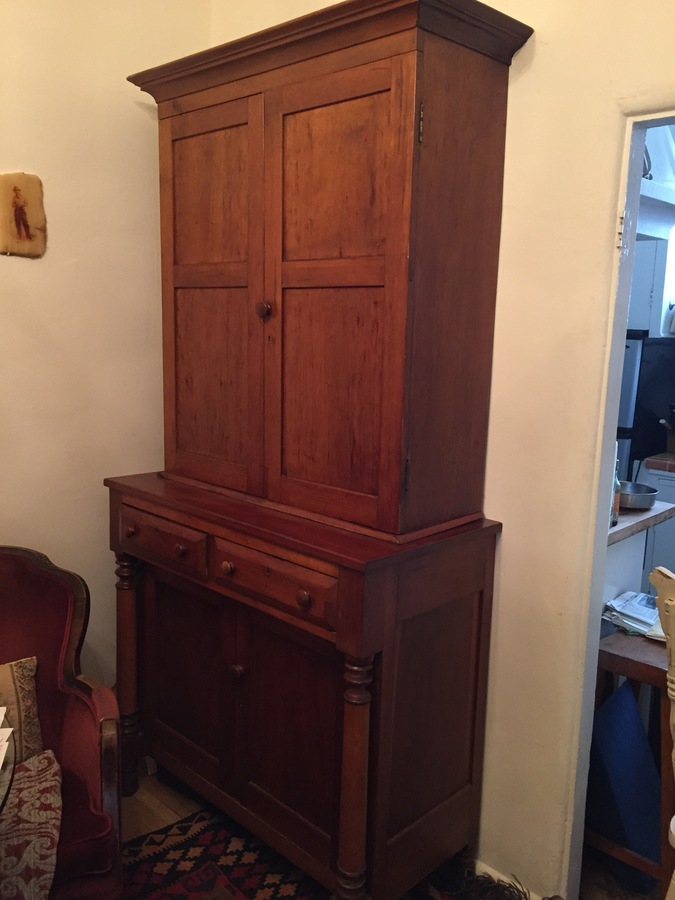 pine goshen with hutch sale for antiques art compartment chair and circular table antique