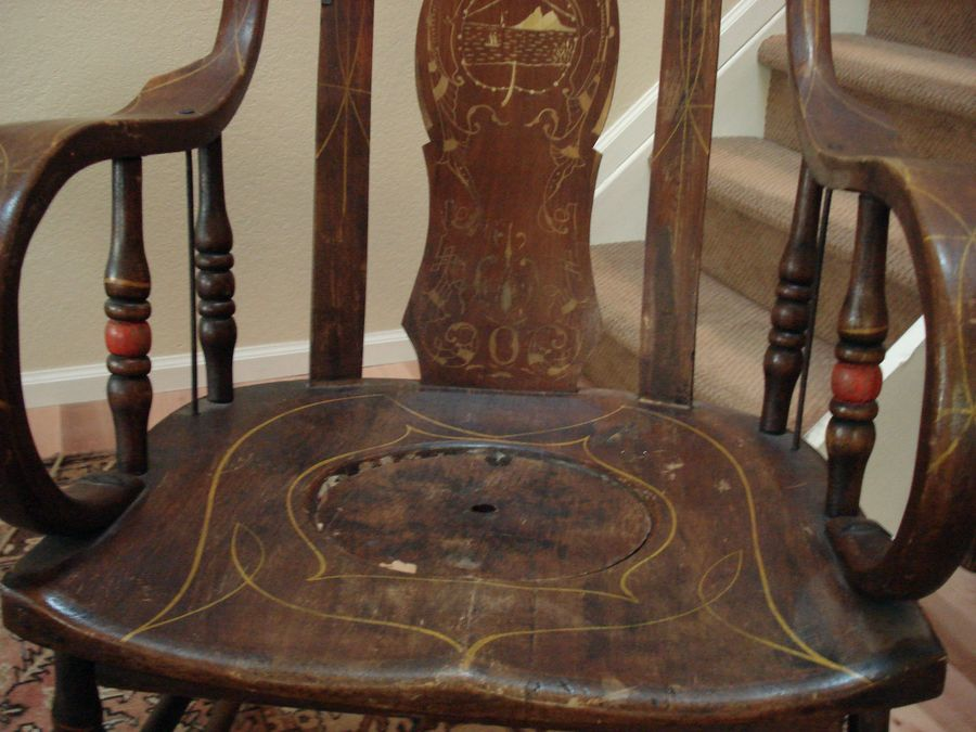 Adult Wood Potty Chair My Antique Furniture Collection