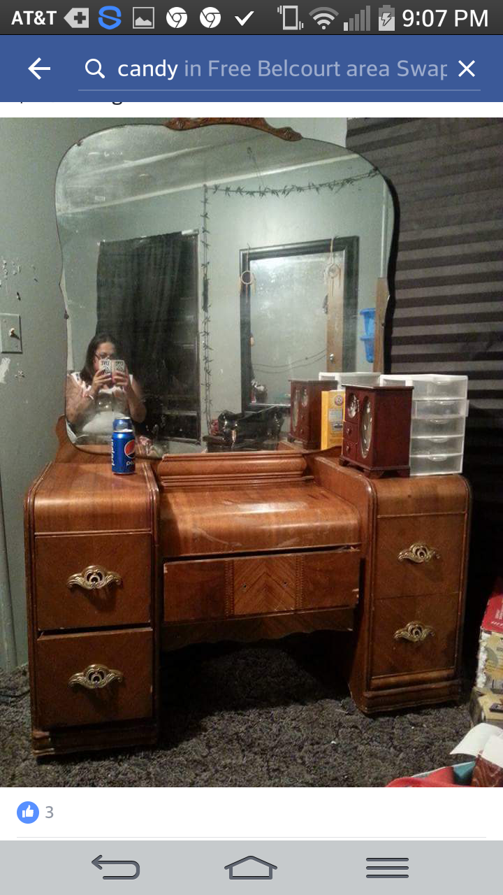 Antique Vanity With Wooden Wheels My Antique Furniture