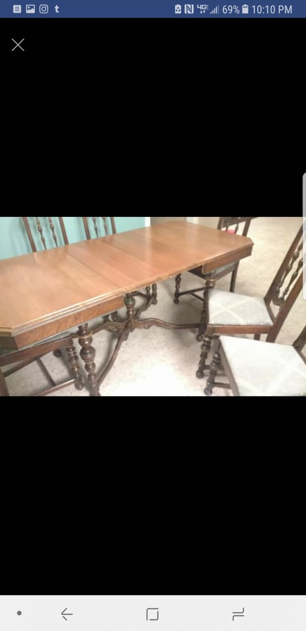 Purchased This Table And Chairs For 200 Was Wondering How Much It May Actually Be Worth Picture Of Sticker Says JL Metz Furniture Co Inc Dining