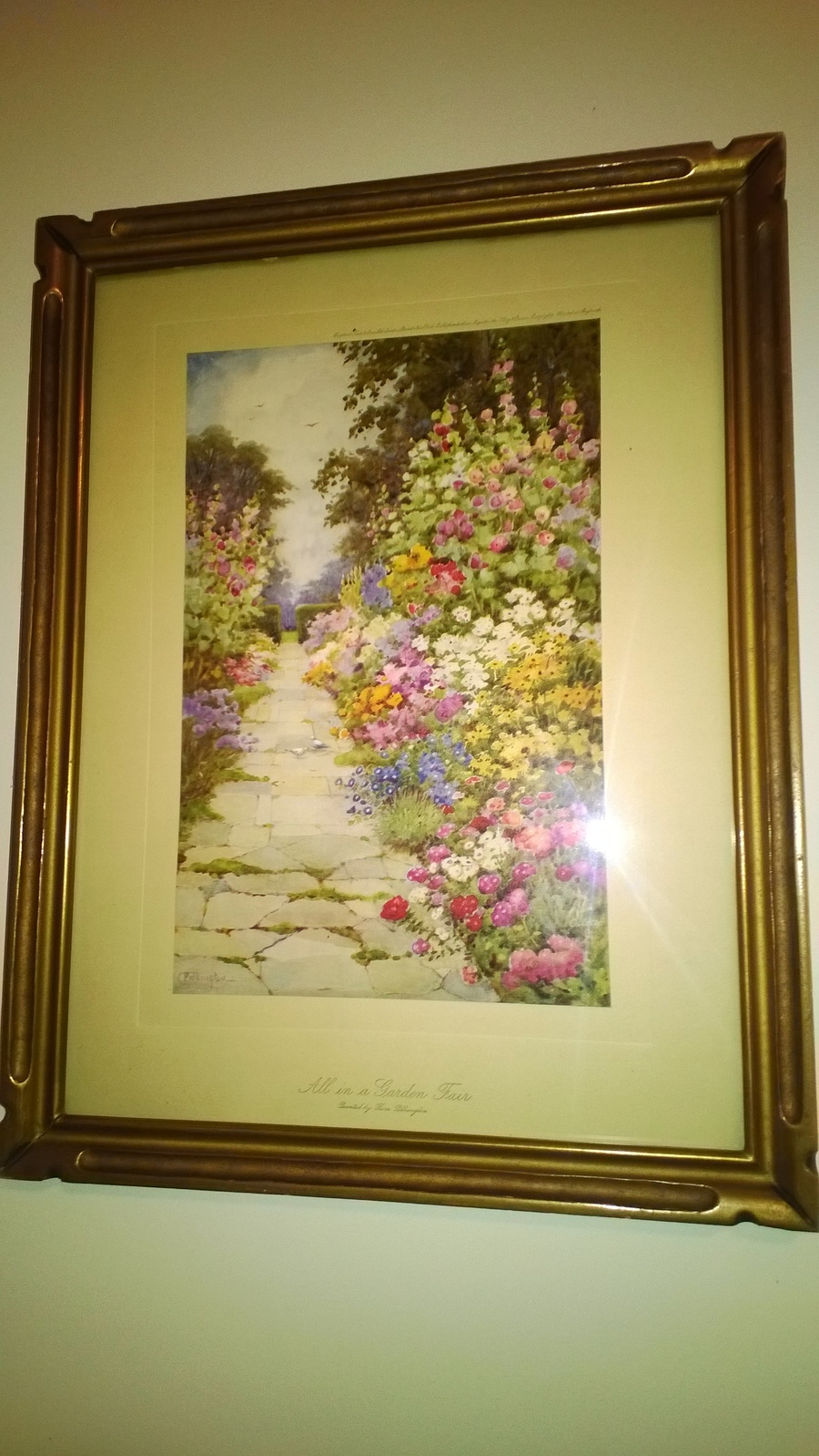 I Have Two Flora Pilkington Watercolor Prints, Beautifully Framed ...