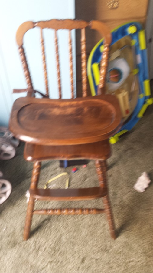1983 Hedstrom Wooden Highchair My Antique Furniture Collection