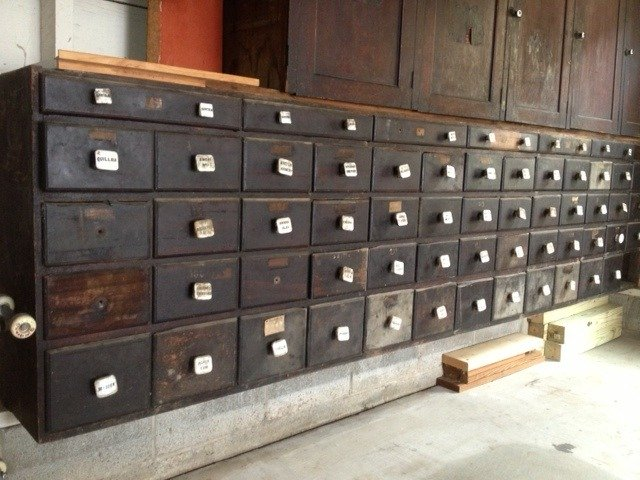 I Have A Large Antique Apothecary Cabinet With Porcelain
