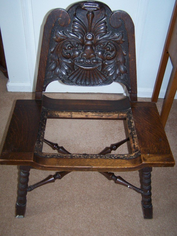 Chair With A Face My Antique Furniture Collection