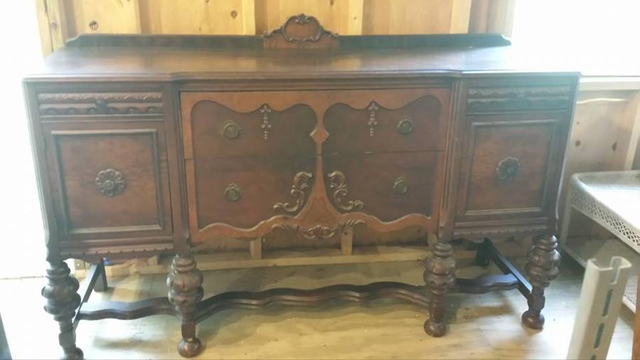 Possible William And Mary Style Buffet And China Cabinet | My ...