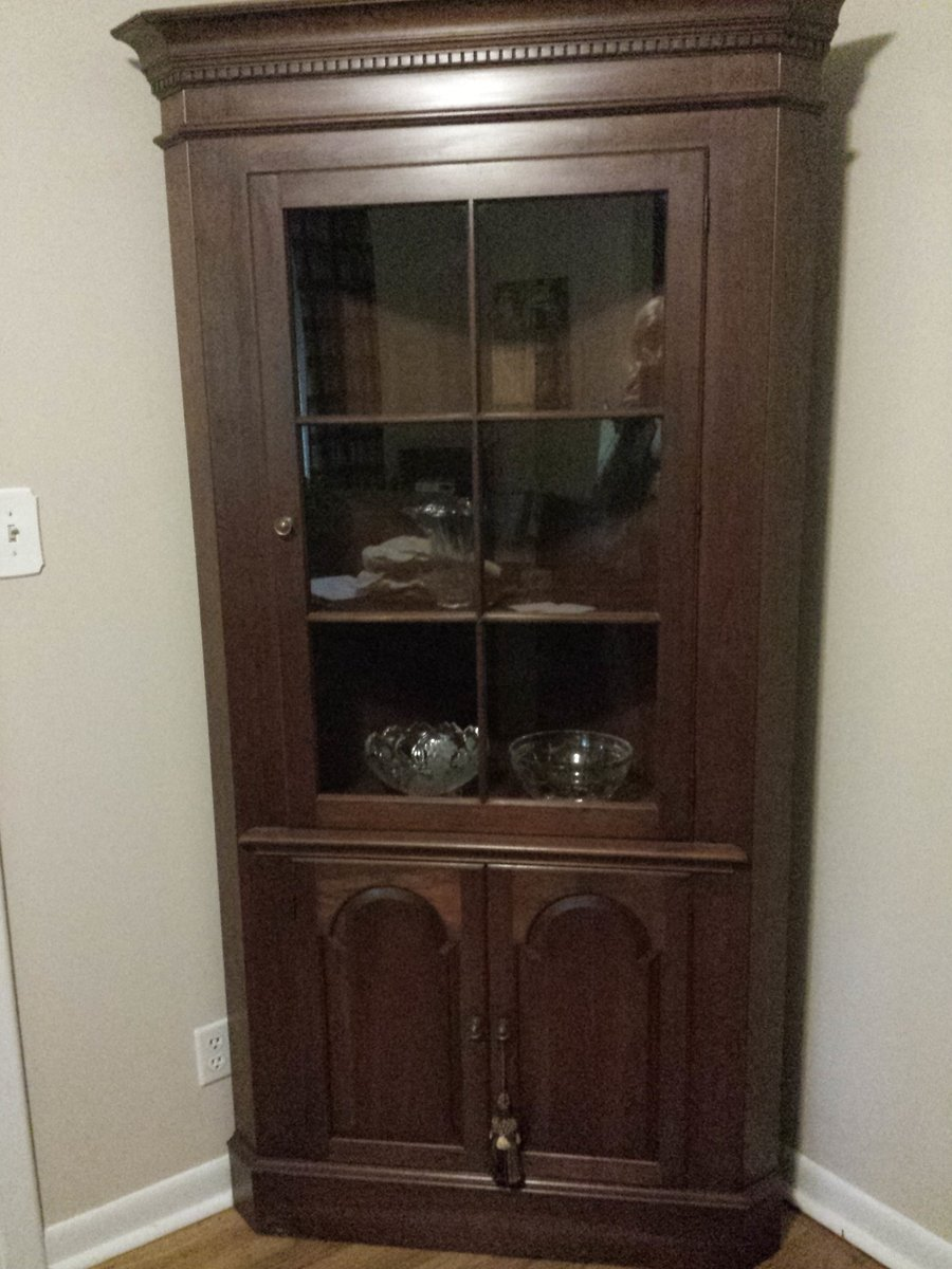 Pennsylvania House Corner China Cabinet Circa 1960 No