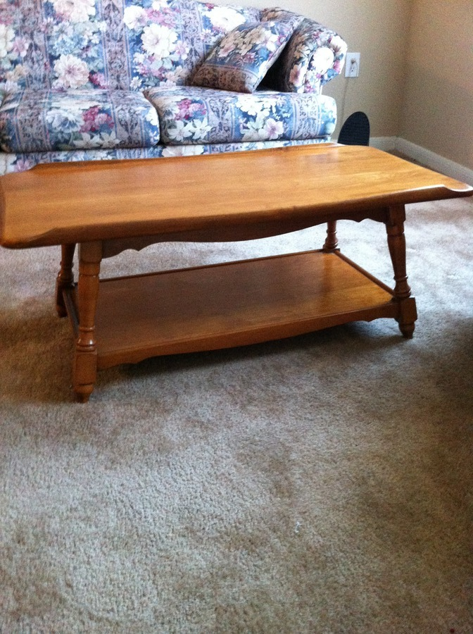 Would Like To Know Value Of Sprague Carlton Solid Rock Maple Coffee Table A.