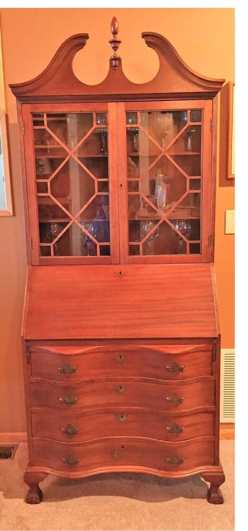 Antique Secretary Desk Worth My Antique Furniture Collection