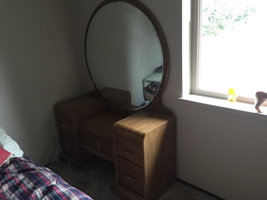 1940s Waterfall Vanity Dresser My Antique Furniture