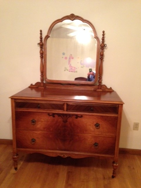 Rolling Dresser With Tilting Mirror My Antique Furniture