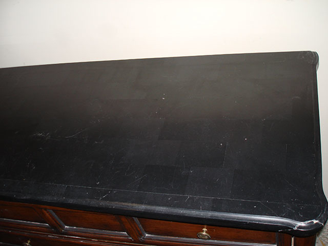 Is This Black Marble Veneer Dresser Valuable My Antique