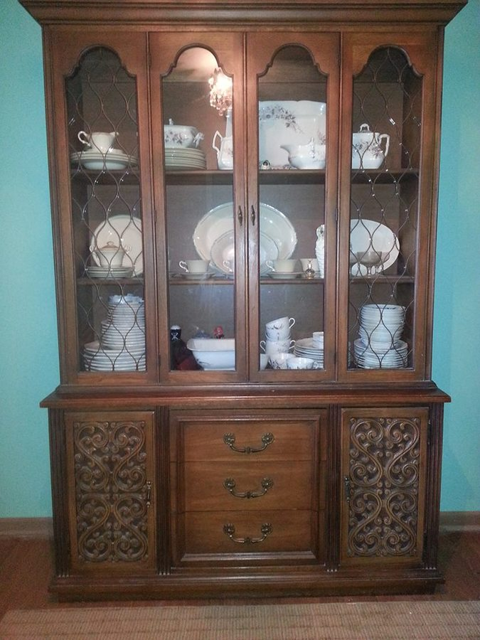 in candlelight vintage china ebay antique hutch cherry bhp house pennsylvania finish cabinet