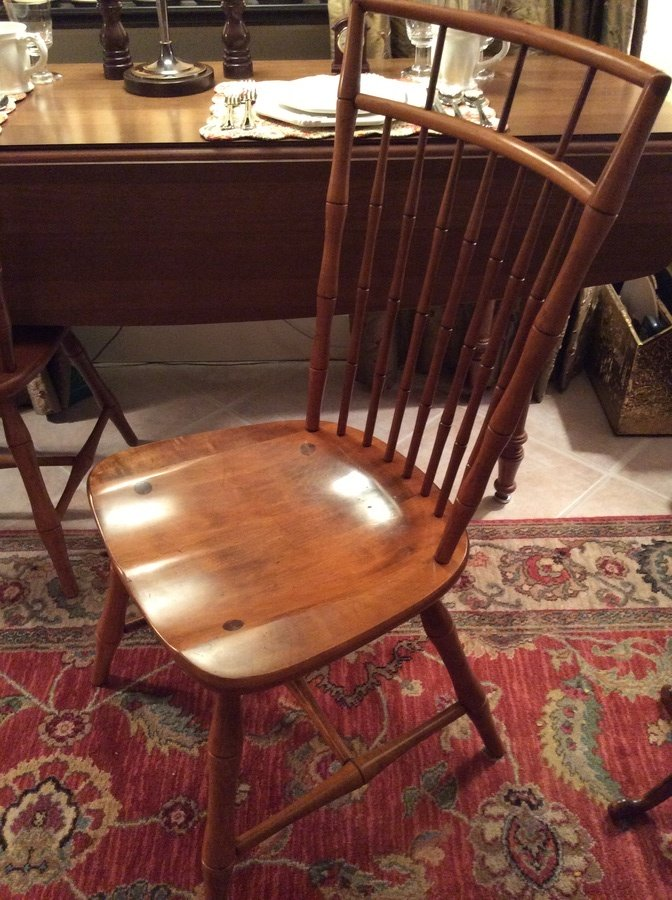 I Have Ethan Allen Birdcage Back Maple Dining Chairs Some