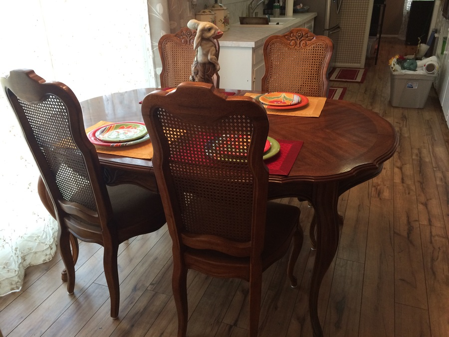 Dining Room Table 6 Chairs Made By Drexel Cabernet Ll 358 332 3