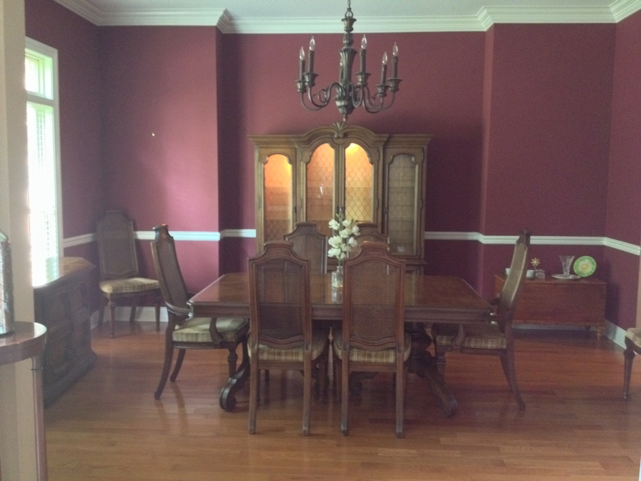 I Would Love To Know Which Style Or Model This Henredon Dining Room Set Is.  And Also Approximate Value. This Is Pecan Wood.
