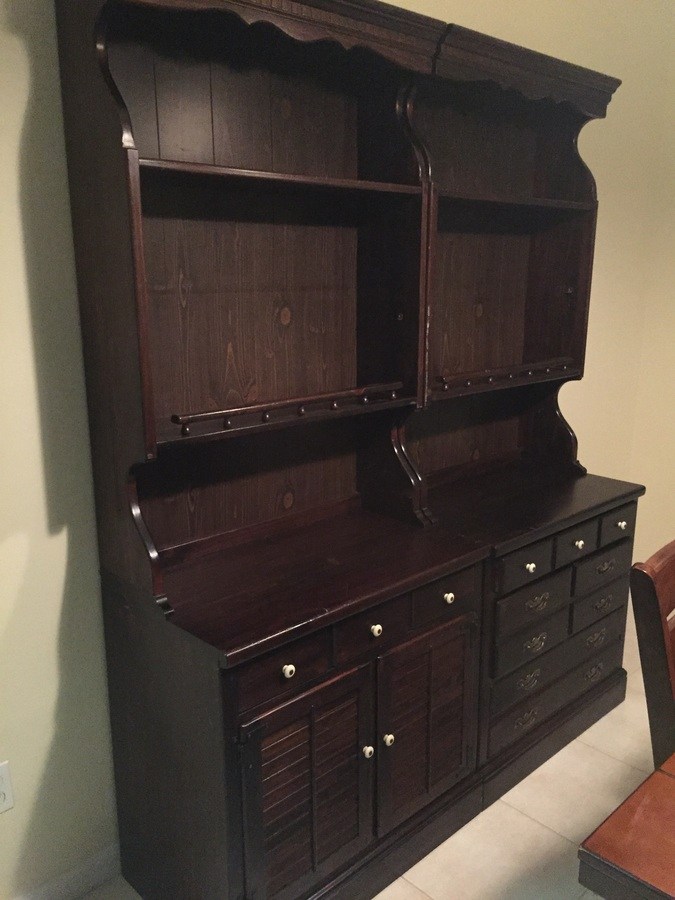 Ethan Allen 1973 Pine Dining Hutches My Antique