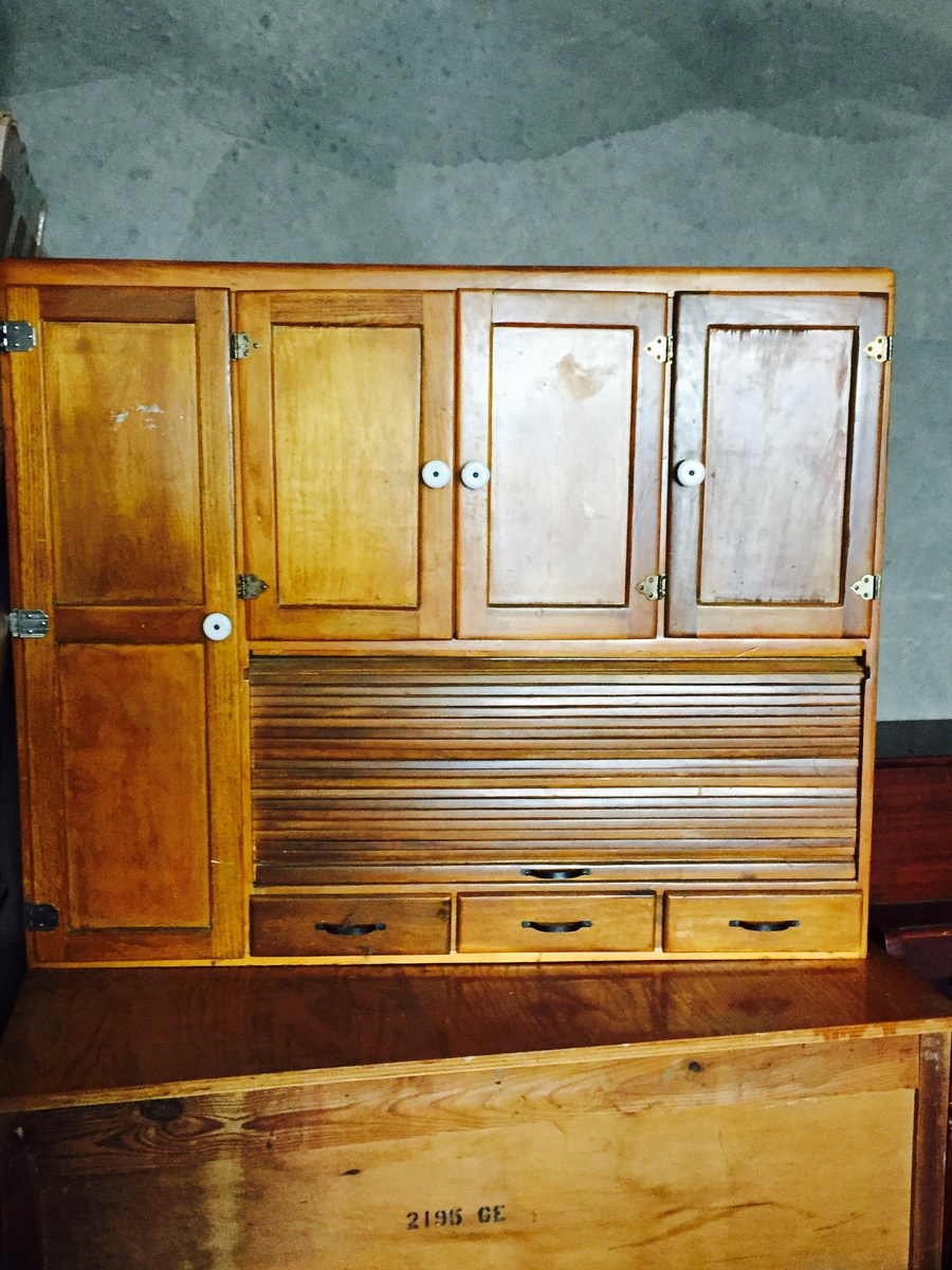 2 Piece Hutch First Pic With Top Half N Backside Of Bottom Piece Any Ideas My Antique