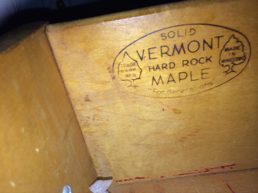 My Chest Of Drawers Has Primitive Back And Is Stamped Vermont Rock Maple No.