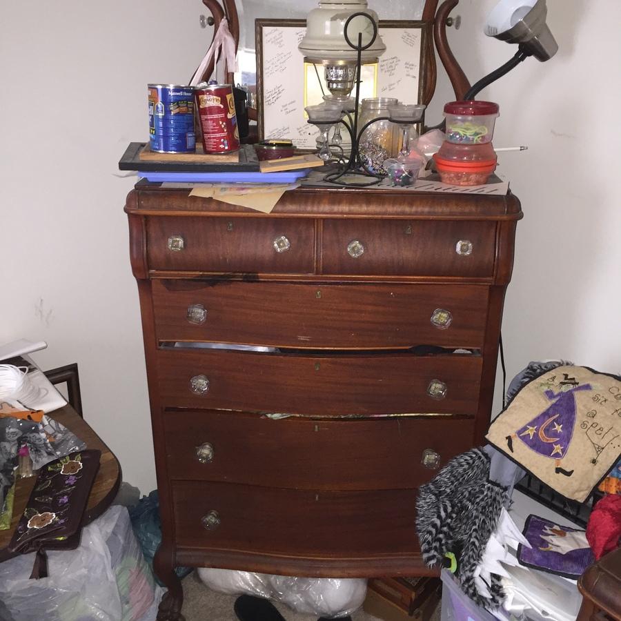 Antique Dresser In Dining Room