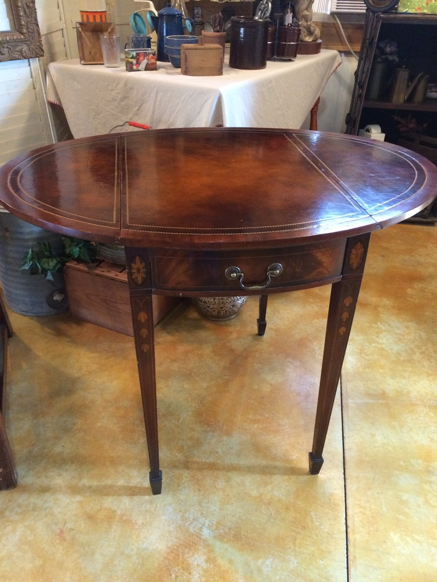 Vintage Weiman Drop Leaf Side Table My Antique Furniture