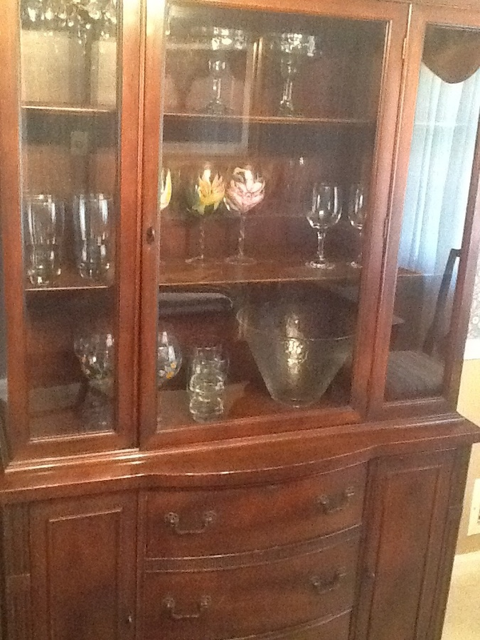 This Is A 1960 S Cherry Wood Set Table China And Buffet