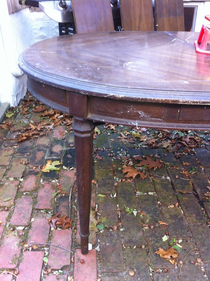 Drexel Esperanto Dining Room Table And Tall Ladder Back