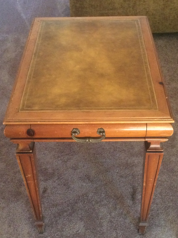Weiman Table With Leather Insert My Antique Furniture Collection
